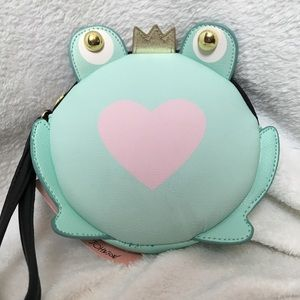 Betsey Johnson Frog Price Coin Purse Wristlet NWT